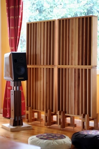 diffusor acoustic panels for redio room