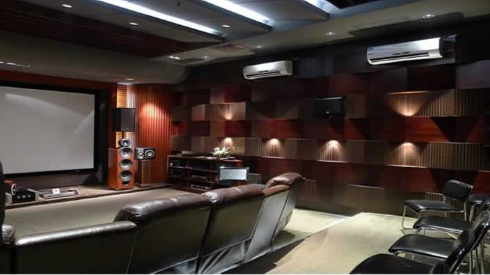 small home theater's acoustic diffusor
