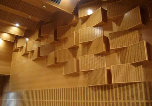acoustic materials used in auditorium