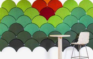 3D Polyester fiber acoustic panels
